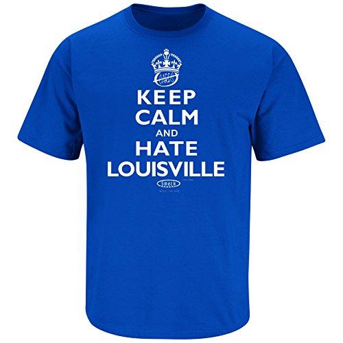 Kentucky Fans. Keep Calm and Hate Louisville Blue T-Shirt (S-5X) (Large)