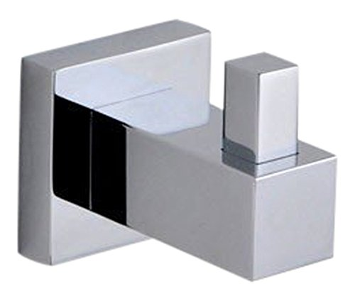 Hansvit AXB38 Square Robe Hook, Chrome Glassbasins Ltd