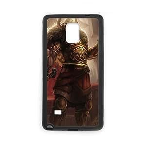 League Of Legends Viking Tryndamere Funda Samsung Galaxy Note 4 Funda caja del teléfono celular Negro Y4T4QX Phone Case Hard 3D