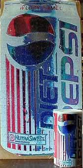 Diet Pepsi Shaped Jigsaw Puzzle
