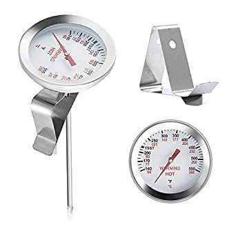"""2/"""" BBQ Grill Thermometers Temperature Gauge For Big Green Egg Grill Dome,"""