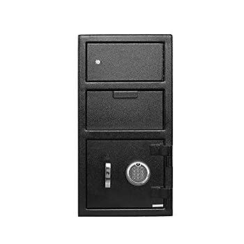 Image of Templeton Standard Depository Drop Safe & Lock Box, Electronic Multi-User Keypad Combination Lock with Key Backup, Anti Fishing Security, 1.5 CBF Black Home Improvements
