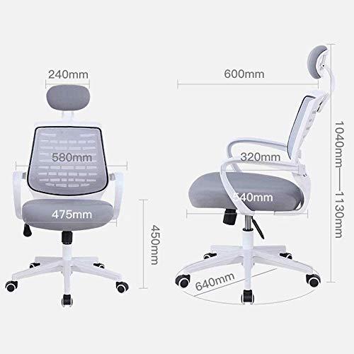 DBL kontorsstol verkställande skrivbordsstol, ergonomisk justerbar svängbar uppgift stol bekväm vadderad nätstol kontorsstol skrivbordsstolar (storlek: svart)