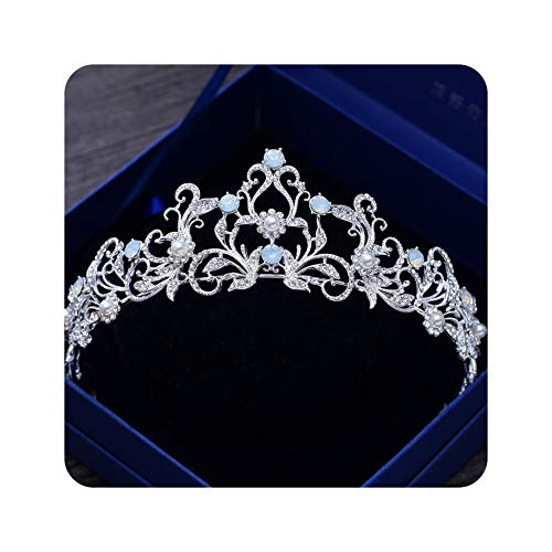 bridal tiara flower crown autumn bridal accessories daisy headband BLUE TIARA wild daisy hair piece garden wedding blue headpiece