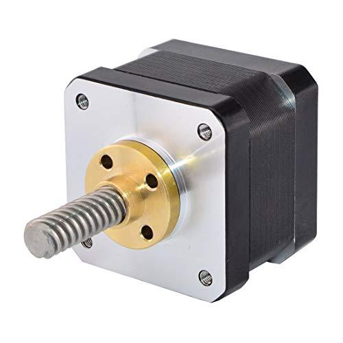 "Nema 17 Linear Stepper Motor External 34mm Stack 0.4A Lead Screw TR8x8mm/0.31496"" Length 32mm for DIY 3D Printer Kits"