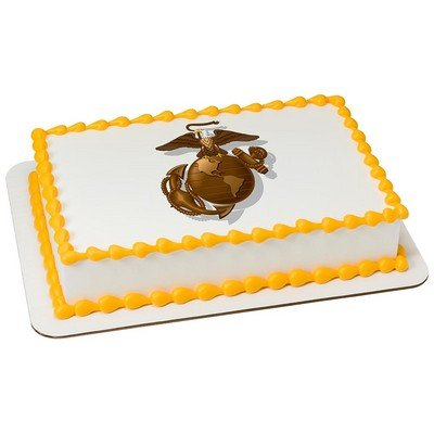 Marine Corps Decorations (U.S. Marine Corps Licensed Edible Cake Topper #8432)