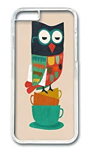 Apple Iphone 6 Case,WENJORS Awesome Morning Owl Hard Case Protective Shell Cell Phone Cover For Apple Iphone 6 (4.7 Inch) - PC Transparent