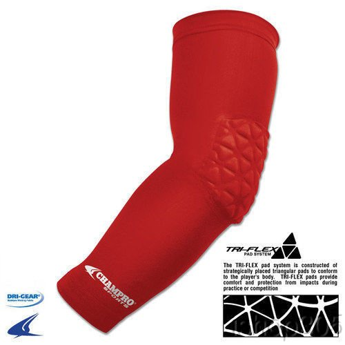 ac joint pad for football. champro arm sleeve with elbow padding ac joint pad for football u