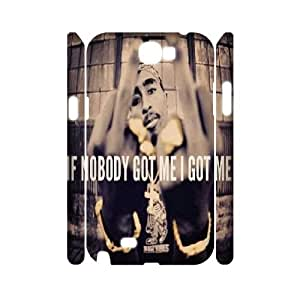 LTTcase Personalised Tupac Shakur 3D Case for samsung galaxy note2 n7100