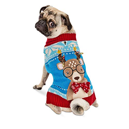 Holiday Tails Oh Deer Ugly Christmas Sweater for Dogs, XX-Large, Green