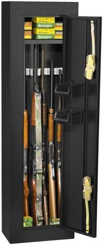 First WatchHomak Gabinete de seguridad de 6 pistolas negro brillante HS30103605