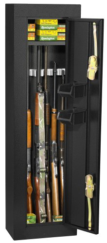 Gun Security Cabinet >> First Watch Homak 6 Gun Security Cabinet Gloss Black Hs30103605