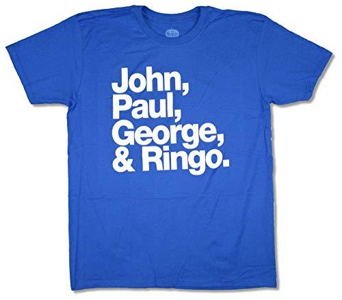 Beatles John, Paul, George and Ringo Royal Blue T Shirt (S)