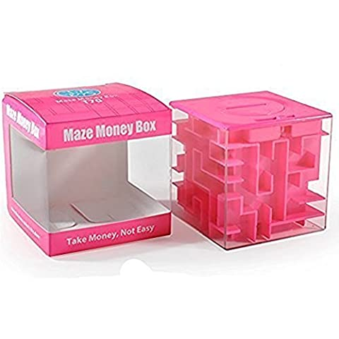 SainSmart Jr. Amaze CB-22 Cube Money Maze Bank-Unique Perfect Gifts for Kids-100% Satisfaction Guaranteed! (Pink) - Prova Perfetta