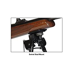 UTG Tactical OP Bipod, Rubber Feet, Center Height 8.3\