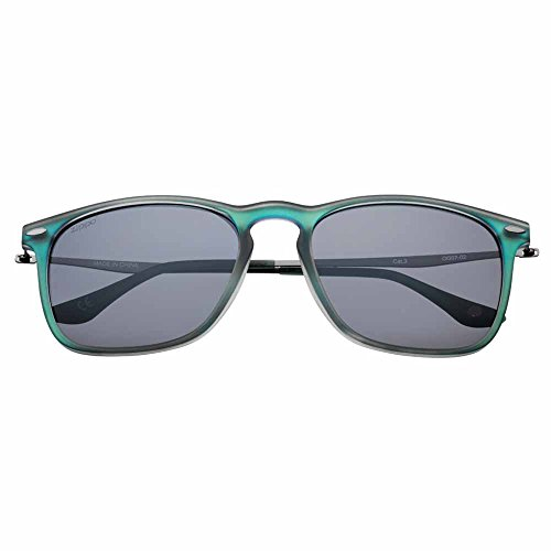 (Zippo Green Polarized Slender Teardrop Sunglasses)