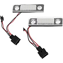 Automotive License Plate Lights, 2pcs Car Number Plate Lamps with Decoding for SKODA Octavia Roomster 5J