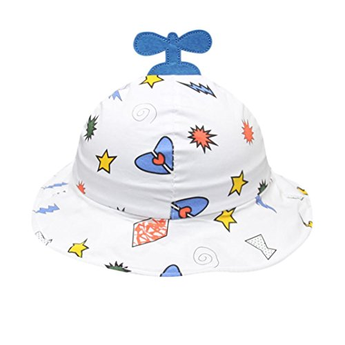 VIASA_cap 24M-6Y Unisex Baby Bucket Cap Propeller Hat Toddler Baby Kids Boys Girls Bucket Hats Sun Beach Cap Bucket Hat (Blue Propeller Kids Bucket Hat) ()