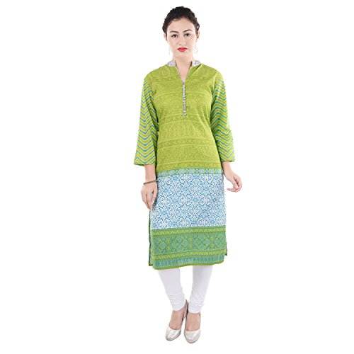 Chichi Women 3/4 Sleeve Tunic Embroidery Top Kurti Blouse (Yellow)(Women's Day Special),Medium,Fire-yellow by CHI (Image #4)