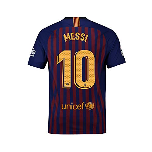 5f6ee2a57a3 Eyibv Mens Messi Jersey 10 Home 2018-2019 Adult Soccer Barcelona Sizes Blue  (Blue, Small)