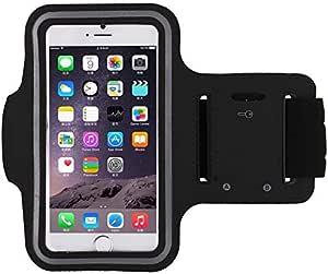 جراب أسود رياضي بحزام للذراع للارتداء أثناء الركض وفي الصالة الرياضية لحفظ موبايل ايفون 6/ايفون 6S بحجم 4.7