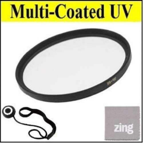 34mm Multi-Coated UV Protective Filter For CANON VIXIA HFR20 HFR21 HFR200 Camcorder Cap Keeper MicroFiber Cleaning Cloth