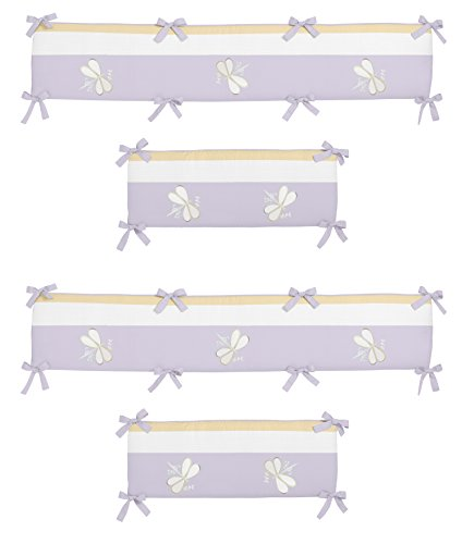 Sweet Jojo Designs Purple Dragonfly Dreams Collection Crib (Dragonflies Bedding Collection)