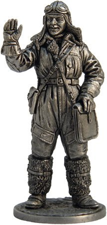 - Pilot-navigator, Air Force Tin Toy Soldiers Metal Sculpture Miniature Figure Collection 54mm (scale 1/32) (WWII-8)