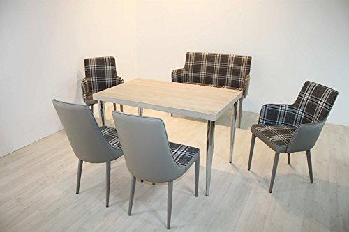 Tischgruppe Linz inklusive Tisch & Stühle im Karomuster