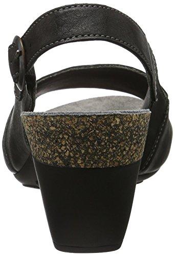 Think Traudi, Zapatos de Talón Abierto para Mujer Negro (Sz/kombi 09)