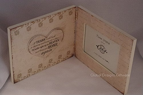 Cheap Picture Frame If Tears Could Build a Stairway Wooden Book Style Memorial Photo Frame