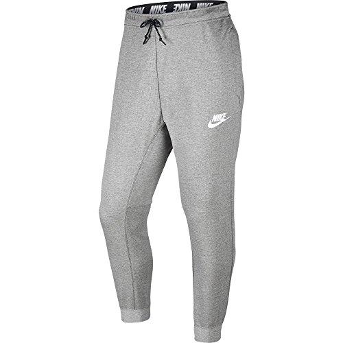 Nike Mens Advance 15 Woven Sweatpant Jogger 861746 (XX-Large, Dark Grey Heather/White)