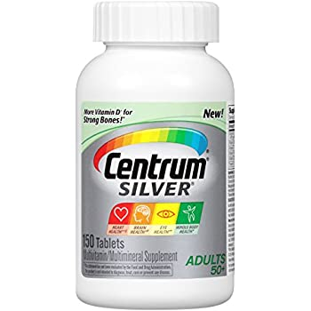 Centrum Silver Adult (150 Count) Multivitamin / Multimineral Supplement Tablet, Vitamin D3, Age 50+