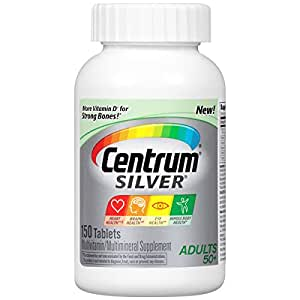 Centrum Silver Adult Multivitamin / Multimineral Supplement Tablet, Vitamin D3 (150 Count) (Package May Vary)