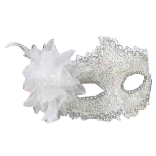 Outop Lace with Rhinestone Liles Venetian Mask Masquerade Halloween Costume