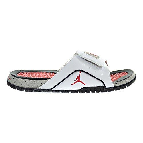 791e1a598 free shipping Jordan Hydro IV Retro Men s Sandals White Fire Red Tech Grey  532225