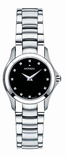 Movado Women's 'Masino' Swiss Quartz Stainless Steel Casual Watch, Color:Silver-Toned (Model: 0606186) - Silver Museum Dial
