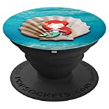 Jame's Designs: Mermaid And Seashell In Blue Ocean PopSocket - PopSockets Grip and Stand for Phones and Tablets