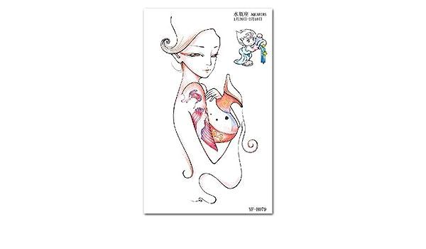 Media mano de los hombres y mujeres a prueba de agua tatuaje ...