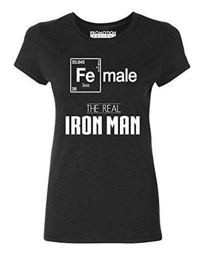 Female Real Iron Man Funny Elements Women's T-Shirt, L, - Ironman Wtc