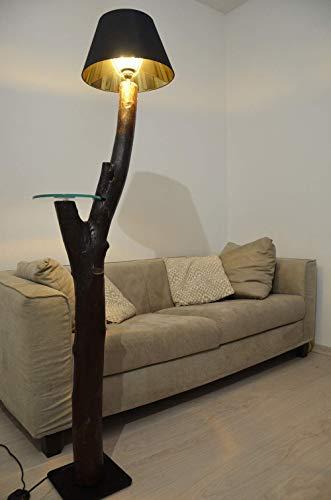 Lámpara de pie en madera moderno con tronco de árbol diseño ...
