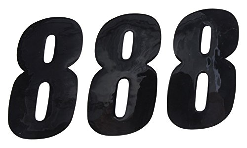 Black 4 3 Pack D/'cor Visuals Dcor Visuals 45-24-8 Number 8