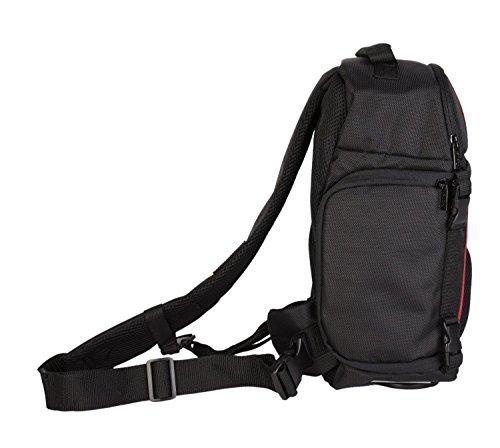 Foto Kamera Tasche Rucksack SLING CARAT Set + UV Filter 52mm für Nikon D5500 D5300 D5200 D3300 D3200 inkl. AF-S DX 18-55 VR