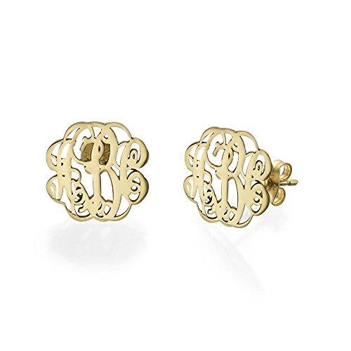 (Monogram Stud Earrings - Custom Made with any Initial!)