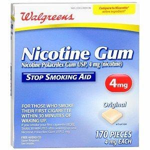 Walgreens Nicotine Gum, 4mg, Original 170 ea -