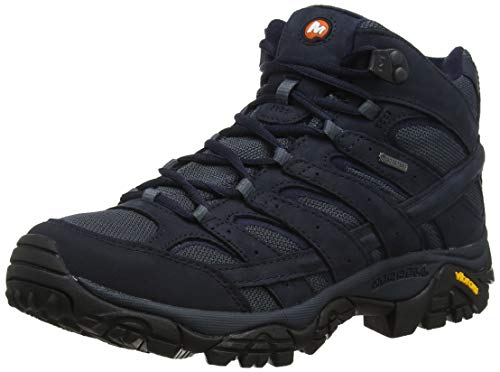 Merrell Men's Moab 2 Mid GTX Hiking Boot (12 US, Navy) (Best States For Hiking)