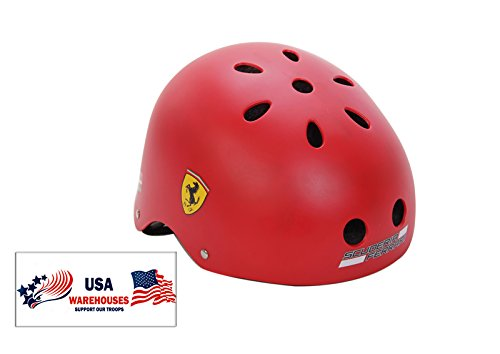Ferrari Junior Sports Skate Cycling Helmet for Teenagers and Kids (Red)