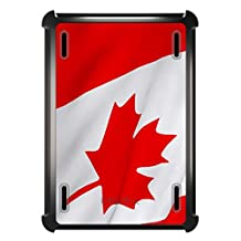 CUSTOM Black OtterBox Defender Series Case for Apple iPad Air 2 (2014 Model) - Red White Canadian Flag Canada