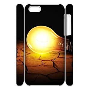 ZK-SXH - Cute Light bulb Custom 3D Case Cover for iPhone 5C, Cute Light bulb DIY 3D Cell Phone Case
