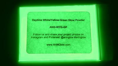 Glow In The Dark Pigment Powder - 12g - Neutral And Fluorescent Colors